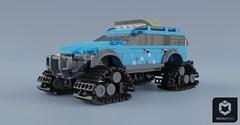 MLV-NC Foreman Cross Arctic SX (Makaleves Lego Vehicles) Tags: lego mlv nc foreman cross artic car vehicle offroad caterpillar