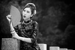 Belle (Francis.Ho) Tags: belle cheongsam chipao qipao chineseculture fujifilm girl woman female femme lady portrait people beauty pretty lips eyes hair face chinese elegant glamour young sensuality fashion naturallight cute goddess model asian daylight sunlight outdoor monochrome blackwhite bw 黑白 xt1