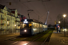 Erster Werktagseinsatz am 23er: P-Zug 2006/3004 steht an der Haltestelle Am Münchner Tor in Richtung Münchner Freiheit (Bild: Andy Paula) (Frederik Buchleitner) Tags: 2006 3004 linie23 munich münchen pwagen strasenbahn streetcar tram trambahn