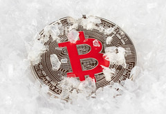 Frozen Bitcoin (wuestenigel) Tags: money winter cryptowinter cold snow btc crypto computer bitcoin frozen schnee desktop noperson keineperson retro symbol vintage jahrgang antique antiquität paper papier dirty schmutzig ballshaped ballförmig snowflake schneeflocke kalt old alt design christmas weihnachten business geschäft thread faden illustration 2019 2020 2021 2022 2023 2024 2025 2026 2027 2028 2029 2039