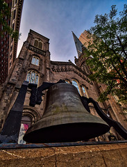 A Swell Bell (tquist24) Tags: cleveland hdr nikon nikond5300 ohio architecture bell cathedral church city downtown geotagged historic sky skyscraper tree urban