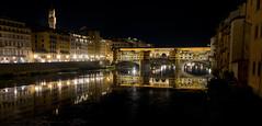 Night on the Arno (Stewart Stein) Tags: stewstein stewbruste nightphotography pontevecchio italy tuscany florence stonebridge bridge firenze arno river arnoriver reflection