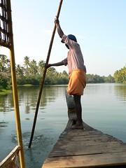 Indian Boatman (jameswoo2) Tags: boatman kerela india river