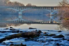 035 (alfredo2057) Tags: alfredo azul arbol agua senderismo sedas vegetacion nikon largaexposicion navarra color invierno rio puente