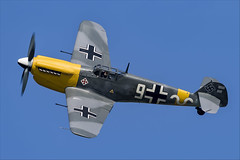 Hispano HA-1112-M1L Buchon - 23 (NickJ 1972) Tags: cosby victory show airshow 2018 aviation hispano messerschmitt bf109 me109 ha1112 buchon gawhh white 9
