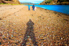 Us4 (ShRiGzInCoBh) Tags: family beach shadow cobh greatisland sea ireland cork