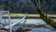 Narrow Wooden Bridge (free3yourmind) Tags: narrow wooden bridge river water flow nature travel georgia old batumi adjara