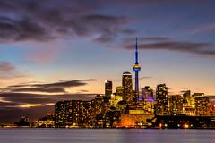 Toronto skyline (Dan Fleury Photos) Tags: lakeontario lake yyz 416 skyline tower waterfront urban cityscape sunset night city toronto ontario canada cans2s