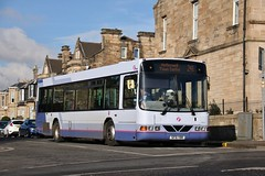 First Glasgow SF51 YBR (61624) | Route 241 | Orchard St, Motherwell (Strathclyder) Tags: first glasgow firstglasgow volvo b10ble wright renown sf51 ybr sf51ybr 61624 orchard street motherwell north lanarkshire scotland olympialivery overtown sv620