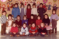 Class photo (theirhistory) Tags: children kids boy girl school class group form pupils jumper trousers shoes wellies dress skirt rubberboots