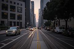 Evening Rush (gedankenstuecke) Tags: sunset financialdistrict traffic streetlife california cityscape downtown rushhour smoke car citylife cars fog sanfrancisco bayarea dusk streetscenes unitedstates us