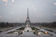 Paris Under the Snow (Alexander JE Bradley) Tags: snow aperturetours paris dreamlike dreamy fairytale 1424mmf28 d500 nikkor nikon europe france îledefrance 75007 eiffeltower toureiffel 75016 trocadéro jardinsdutrocadéro trocadérogardens city architecture buildings tower monument landmark nationalmonument town urban cityscape scenic skyline landscape noperson snowflake hiver winter sky alexanderjebradley photography photograph travel tourism travelphotography wwwalexanderjebradleycom wwwaperturetourscom unesco worldheritage heritage parisbanksoftheseine fr