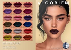 Algorifm - Matte Chic lipstick collection (GENUS) (algorifm) Tags: genus genusproject genusclassic algorifm avatar makeup lipstick new product marketplace brand matte