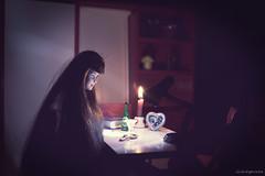 Sadness (lichtspuren) Tags: sadness barbie diorama mackieface red dark lichtspuren
