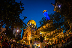Sultan Mosque (explore) (Thanathip Moolvong) Tags: singapore centralregion sg sultan mosque blue dusk building color