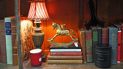 Rock On! (Eclectic Jack) Tags: book books rocking horse figureine store antique light jones tom tomjones kipling kim candle resolute scent availble existing photo photography
