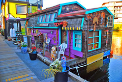 Fisherman's Wharf Houseboats. Victoria, BC. (Infinity & Beyond Photography: Kev Cook) Tags: fishermans wharf houseboats victoria bc canada homes boats houses