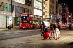 Street Photography, Oxford Street (LFaurePhotos) Tags: centrallondon londonbynight oxfordstreet streetsoflondon girls lfaurephotos london londonbus people