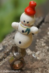 Keep the balance, Snowman! (Doklas M Boyke) Tags: macromondays balance snowman christmas ornament
