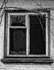 Gone (jip_and_elsewhere) Tags: urban urbex urbanexploration abandoned blackwhite black white monochrome shoes child children window shattered