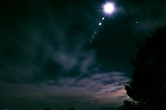 One night (Anna Gurule) Tags: night sky evening clouds moon trees cloudyskies