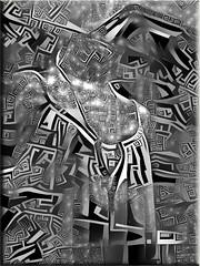 Escaparate (seguicollar) Tags: imagencreativa photomanipulación art arte artecreativo artedigital virginiaseguí androide ddg escaparate maniquí cenefas texturas blancoynegro blackandwhite