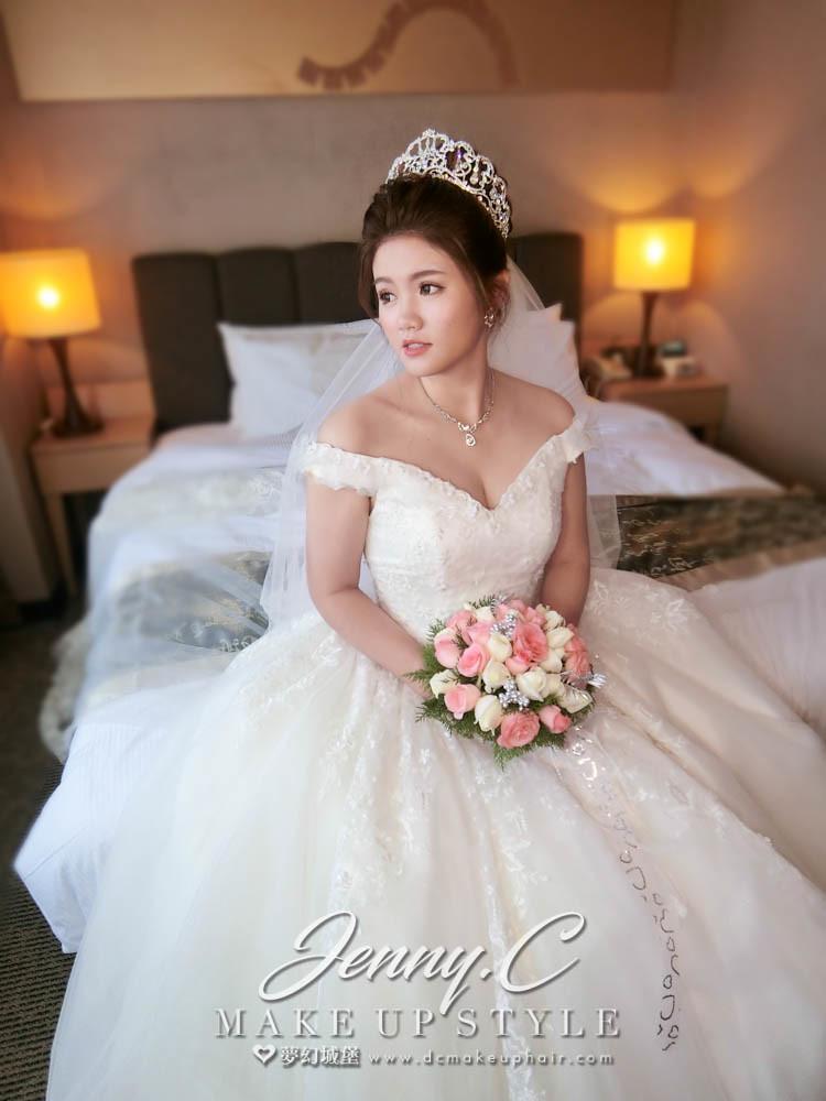 【新秘蓁妮】bride小波 結婚造型 /台北凱撒大飯店