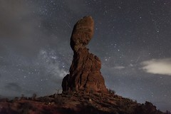 Nighttime at Arches (TWK2011) Tags: balanced arches national park moab utah night dark milky way cloudy overcast red black starscape stars adventure cold still excited rock rocks landscape outdoor nature natural monolithic monolith outside sky