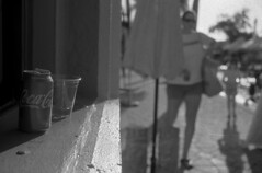 Trashy Refreshments (PositiveAboutNegatives) Tags: leica leitz leicaflex slr leicaflexslr 35mm 35mmelmarit 11231 leicar yellowfilter film analog bw blackandwhitefilm foma fomapan fomapan100 rodinal coolscan lakeworth florida streetpaintingfestival