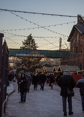 Twilight At The Christmas Market (Rackelh) Tags: people christmas market streetview twilight lights building distillery district toronto ontario canada