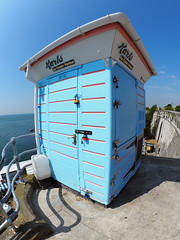 Karl's day off (chrisinplymouth) Tags: fisheye ices icecream parlor thehoe plymouth devon england uk cw69x xg city parlour seaside inexplore explored karls plymouthhoe