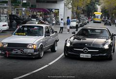 Mercedes-Benz SLS AMG & Chevrolet Chevette (Pandolfiphotos) Tags: carros car cars carro brasil autos bmw audi o veiculos instacar a volkswagen chevrolet ferrari ford auto honda motor supercars mercedes rebaixados grandi porsche n luxury moto fixa toyota bhfyp