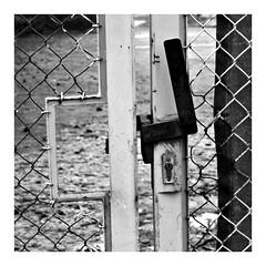 2019-01-04 | black + white (clemisan) Tags: blackwhite blackandwhite fortheloveofblackandwhite bw urban darmstadt fence fencedfriday door doorswindowsproject xe2