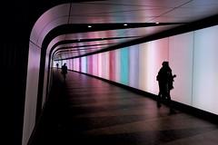 Artificial Separation (Douguerreotype) Tags: london england futuristic people metro uk underground urban british city tunnel britain subway silhouette gb tube station