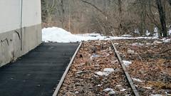 Sidwalk and Track (blazer8696) Tags: 2019 ct connecticut dscn4431 ecw fishkill hpf hartford newington newingtonjunction providence t2019 usa unitedstates abandoned railroad siding