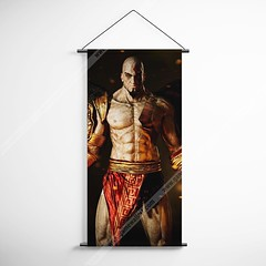 God Of War 24 Kratos Decorative Banner Flag for Gamers (gamewallart) Tags: background banner billboard blank business concept concrete design empty gallery marketing mock mockup poster template up wall vertical canvas white blue hanging clear display media sign commercial publicity board advertising space message wood texture textured material wallpaper abstract grunge pattern nobody panel structure surface textur print row ad interior