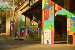 A city under the overpass (radargeek) Tags: okc oklahomacity downtown mural city 2018 november