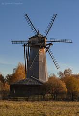 Windmill (Lyutik966) Tags: mill windmill building wood wing architecture istra museum russia nature autumn tree foliage fence