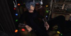 Isamine KAITO smoke (kaitonashiro) Tags: kaito isamine utilizator kuroo ayashi m4 mars cyber punk rock rocker anime guy cigarette bishounnen shounnen light blue
