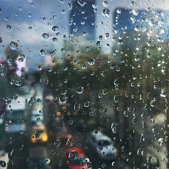 50 / 52 : 3 (Randomographer) Tags: 52weeks iphone rain window glass drops droplets wet water splash precipitation sky silhouette blue duotone moisture h2o storm sunlight sun sparkle shimmer texture abstract bubble underwater 50 52 2018 las vegas