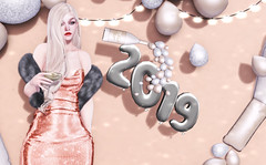 December 31, 2018 | 028 (๑αυяα dεαтнlч๑) Tags: access animations apparel astralia aura deathly auradays resident balloons body busan buzzeri champagne chicchica collabor88 dress earrings equal10 eyes fur genus hair head kirin kustom9 lagyo miss chelsea mossu mudskin nomad pose props rama salon ramasalon second life secondlife skin sl uber