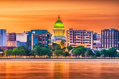 Beautiful view of Madison- USA (farenexusnexus) Tags: america american architecture buildings business capital capitol city cityscape danecounty district dome downtown dusk evening government house lake landmark landscape lights madison midwest monona night river scene scenery scenic sightseeing skyline state statehouse sunrise sunset terrace tourism town townscape travel twilight unitedstates usa view water wi wisconsin
