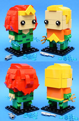 Aquaman & Mera (Andrew Cookston) Tags: lego dc comics aquaman arthur curry mera atlantis custom moc brickheadz dark green orange red yellow macro toy still life photography andrew cookston andrewcookston