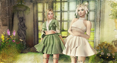 BokSoon (kynne L.) Tags: backdrop sl secondlife fantasy spring photo irrisistible shop garden flowers roses ivy plant grass victorian window pose decor scene curtains mesh furnitures home