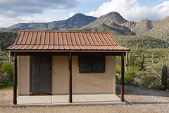 Shack In The Desert (vincentinfante) Tags: arizona sonoran desert shack mountains cactus cacti clouds trail hiking