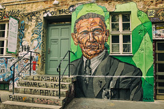 Otto Weidt... (JuliSonne) Tags: streetart urbanekunst mauer wall graffiti colors scene urban pasteup stencil street berlin lakeoner ottoweidt schwarzenberghöfe