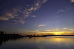 Blue Sky Sunset (LifeLover4) Tags: sunset pugetsound clouds outside natural bay bird explore explored hughstickney stickneydesign interestingness