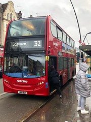 Another straight-lined North London route that only really serves the Edgware Road. | Metroline London ADL Enviro 400H working the 32 to Edgware. (alexpeak24) Tags: edgware kilburnpark 32 enviro400h alexanderdennis london metroline