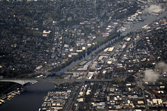 Fremont Cut (Sotosoroto) Tags: aerial seattle washington fremont city shipcanal aurorabridge bridge