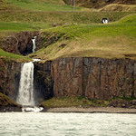 Waterfall from the drainage pipe under the road thumbnail